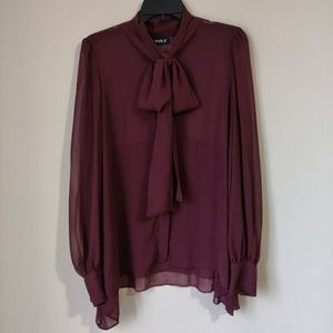 Womens Maroon Blouse